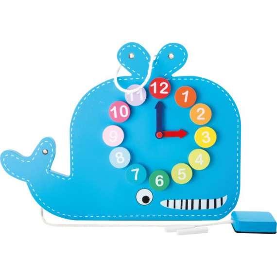 Zegar i tablica do nauki godzin - Wieloryb Small Foot