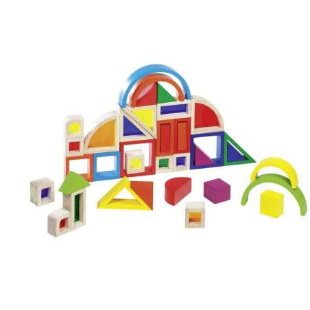 Kolorowe klocki z okienkami Goki