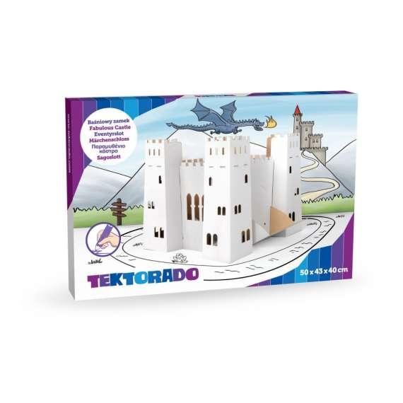 Tekturowy baśniowy zamek Tektorado
