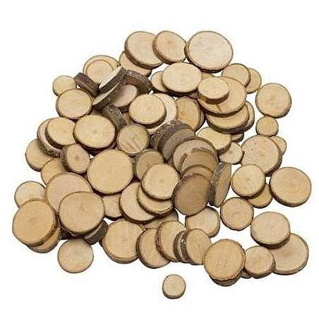 Krążki z drewna 100 elementów liczmany