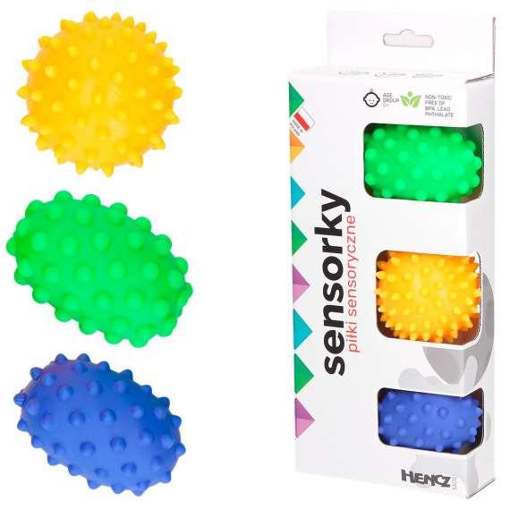 Piłki sensoryczne - zestaw 3 sztuki Hencz Toys