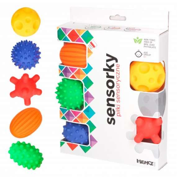 Piłki sensoryczne - zestaw 5 szt. Hencz Toys