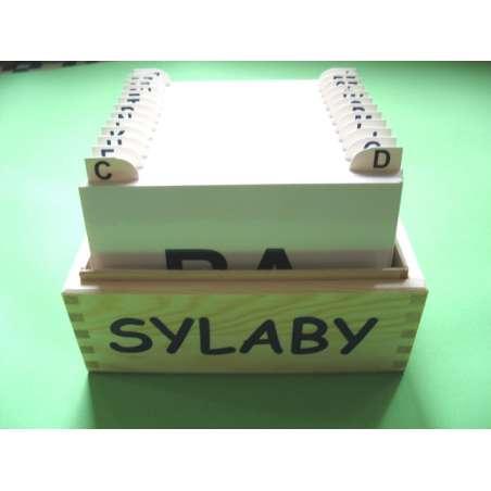Sylaby - karty logopedy
