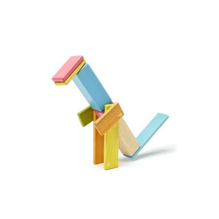 Drewniane klocki magnetyczne TEGU zestaw 14 sztuk Tints