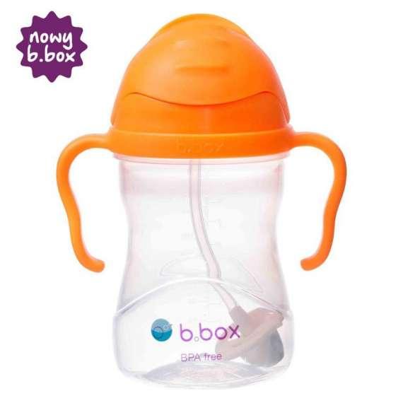 B.box - Innowacyjny bidon ze słomką, pomarańczowy