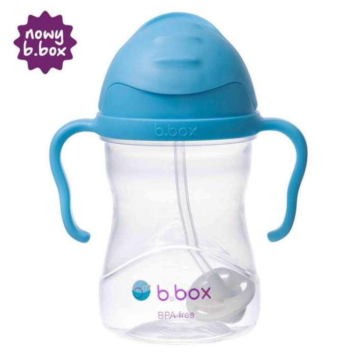 B.box - Innowacyjny bidon ze słomką, borówkowy
