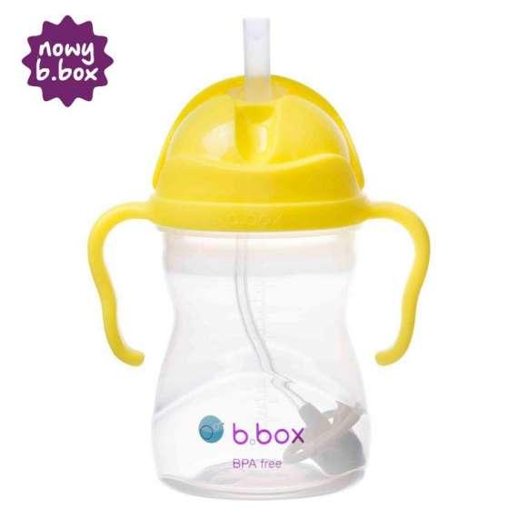 B.box - Innowacyjny bidon ze słomką, cytrynowy