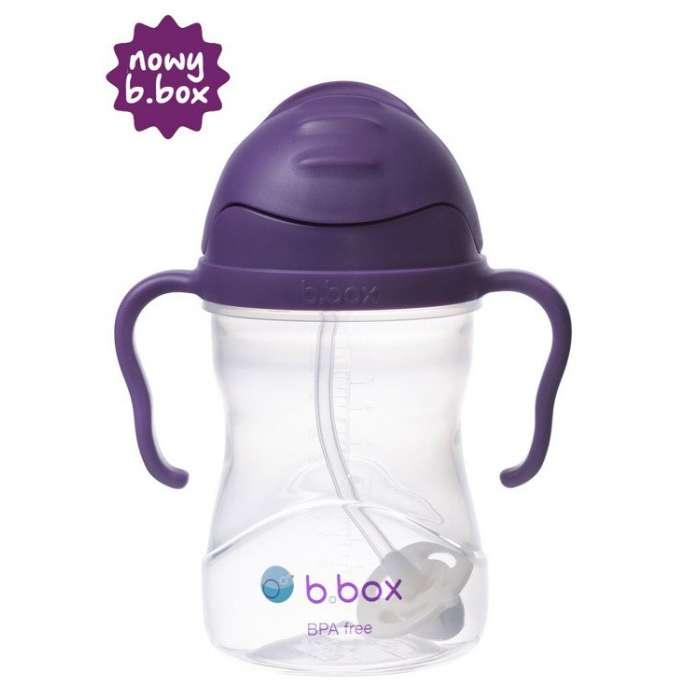 B.box - Innowacyjny bidon ze słomką, winogronowy