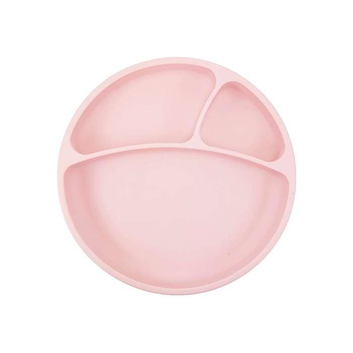 Talerzyk silikonowy różowy