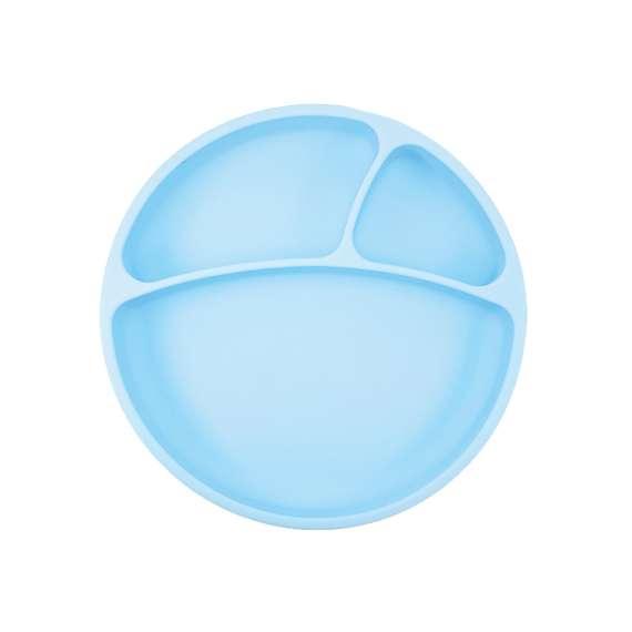 Talerzyk silikonowy niebieski