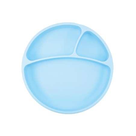 Talerzyk silikonowy niebieski z przyssawką Minikoioi