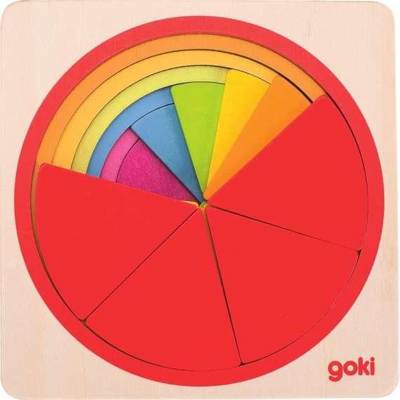 Puzzle warstwowe Tęczowe koło Goki