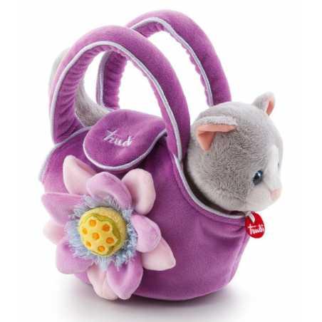 Kotek w fioletowej torebce z kwiatkiem, Trudi