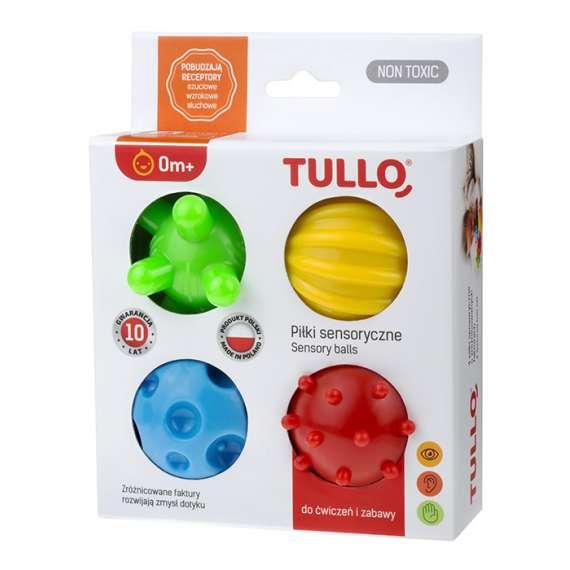 kolorowe piłki sensoryczne 4 szt Tullo