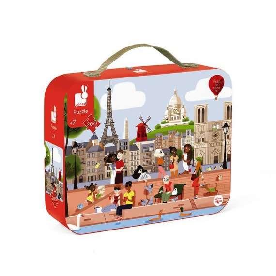 Puzzle w walizce Paryż 200 elementów JANOD