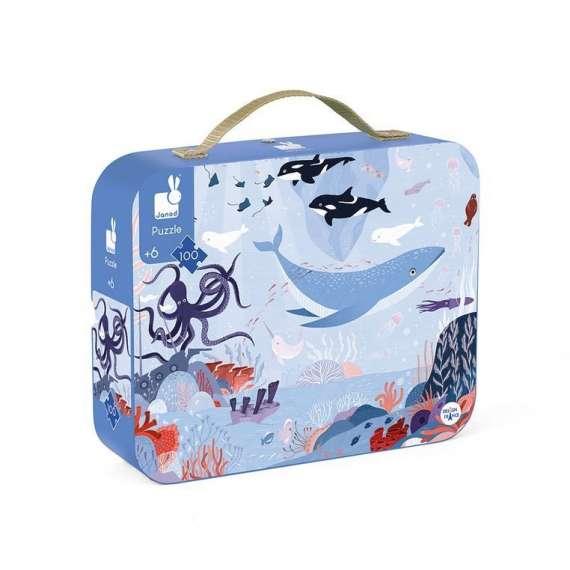 Puzzle w walizce Ocean arktyczny 100 elementów JANOD