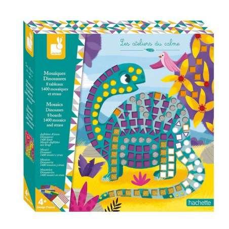 Zestaw kreatywny Mozaika Dinozaury 4+, Janod