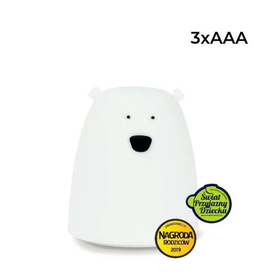 Lampka Miś biały - mały Rabbit&Friends