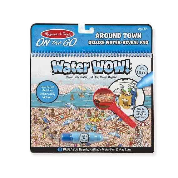 Kolorowanka Wodna WaterWow ZESTAW DELUXE Z LUPĄ ŚWIAT LUDZI Melisssa&Doug