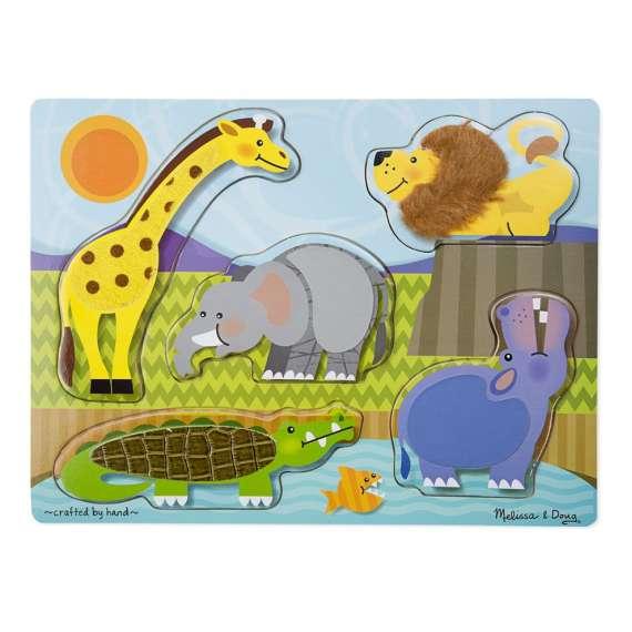 """Puzzle """"dotknij i poczuj"""" Zoo"""