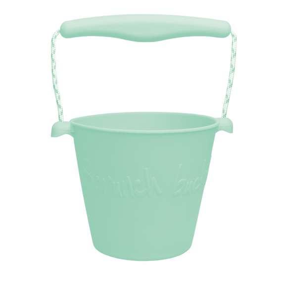 Składane wiaderko do wody i piasku Scrunch Bucket - Miętowy