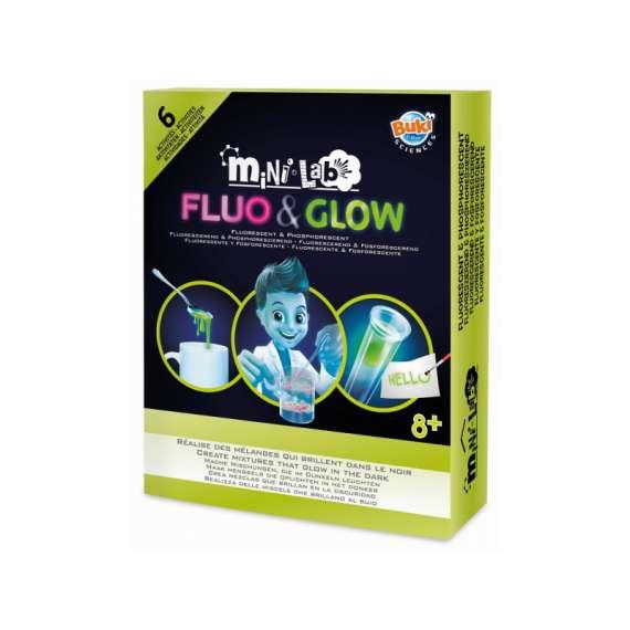 Mini lab FLUO&GLOW zestaw do eksperymentów świecących w ciemności