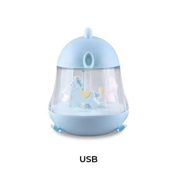 Lampka z pozytywka Kurczaczek niebieska