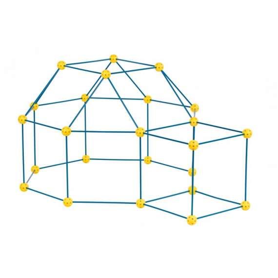 Zwariowany Namiot żółto - niebieski