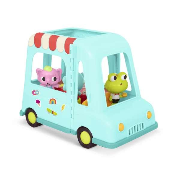 Muzyczny Food Truck z wesołymi pasażerami