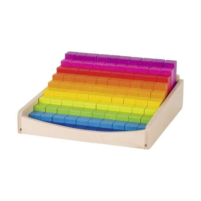 Klocki w kolorach tęczy - Nauka liczenia
